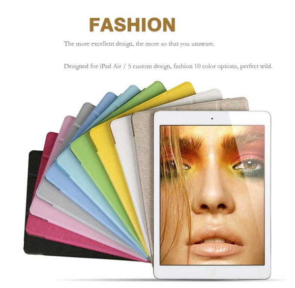 Top And Cool Cheap Leather Apple iPad Air Covers And Cases Cheap Smart Cases And Cover For iPad Air IPC04_14