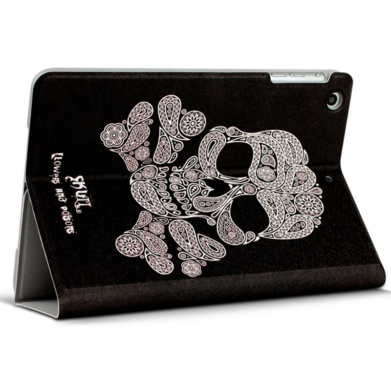 Best Leather iPad Air And iPad Air 2 Cover With HD Cartoon Drawing IPCC04_18