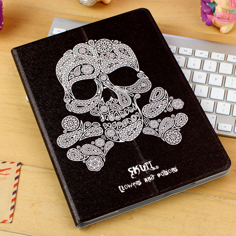 Best Leather iPad Air And iPad Air 2 Cover With HD Cartoon Drawing IPCC04_19