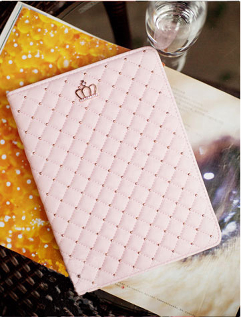 Best Luxury Black Pink Smart Covers Cases For iPad Air 2 IPCC07_10