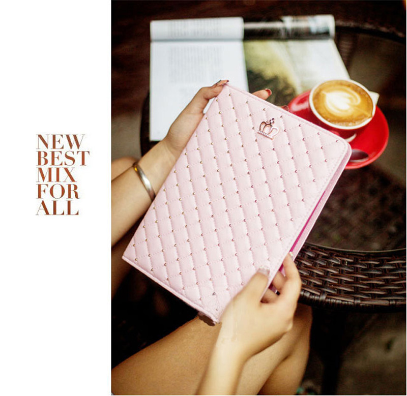 Best Luxury Black Pink Smart Covers Cases For iPad Air 2 IPCC07_8