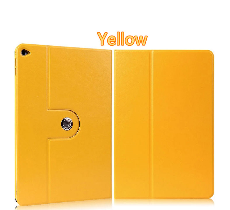 360 Rotation Orange Best Leather Apple iPad Air 2 Cases IPCC09_6