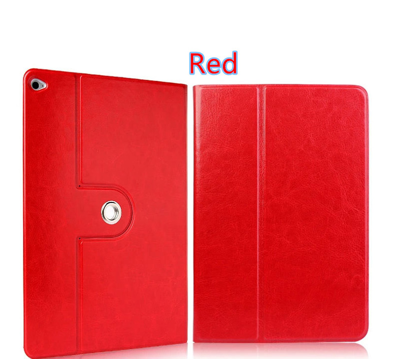 360 Rotation Orange Best Leather Apple iPad Air 2 Cases IPCC09_7
