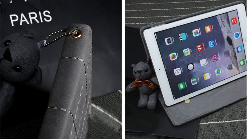 Leather iPad Air 2 iPad Mini 4 3 2 1 Cases Or Covers With Litter Bear IPCC11_8