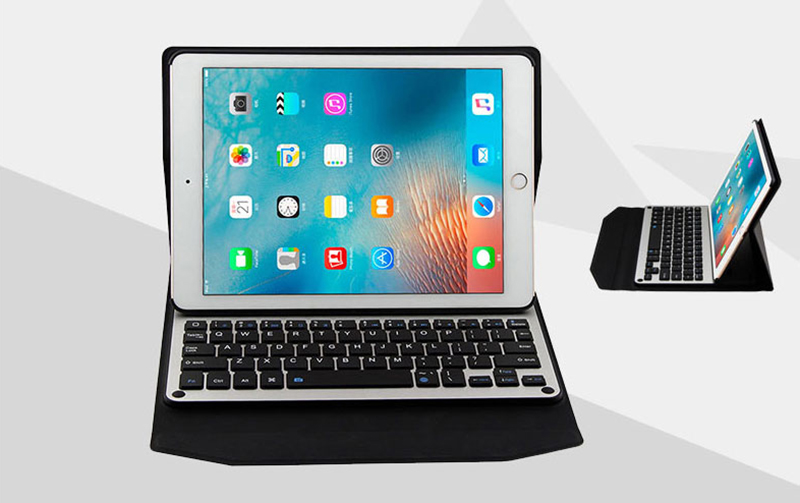 Protective Leather Case With Keyboard For iPad 2017 Air 2 iPad Pro 9.7 12.9 Inch IPCK06_7
