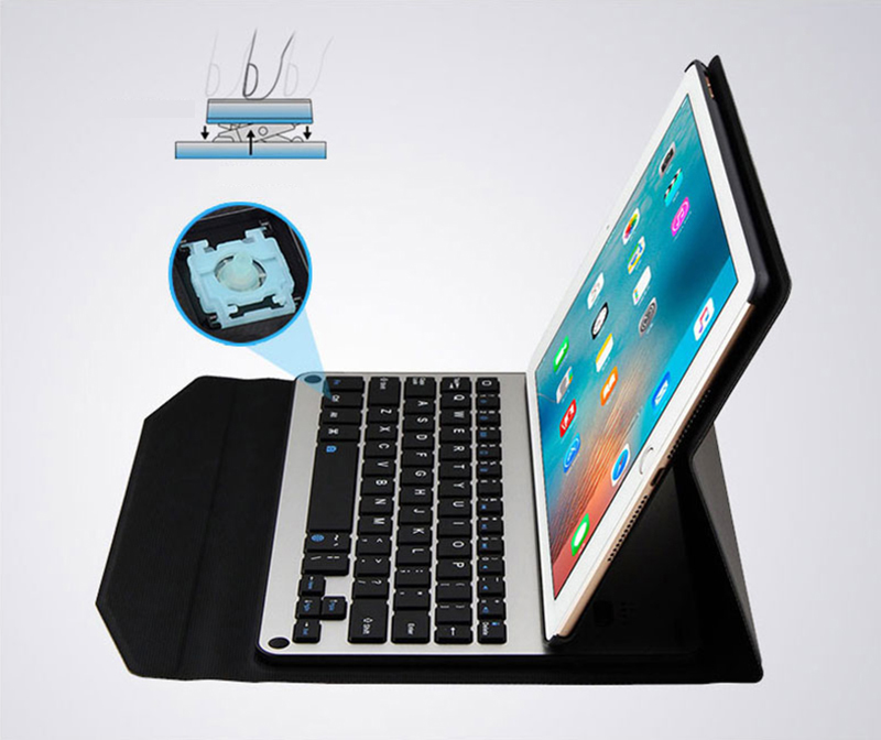 Protective Leather Case With Keyboard For iPad 2017 Air 2 iPad Pro 9.7 12.9 Inch IPCK06_9