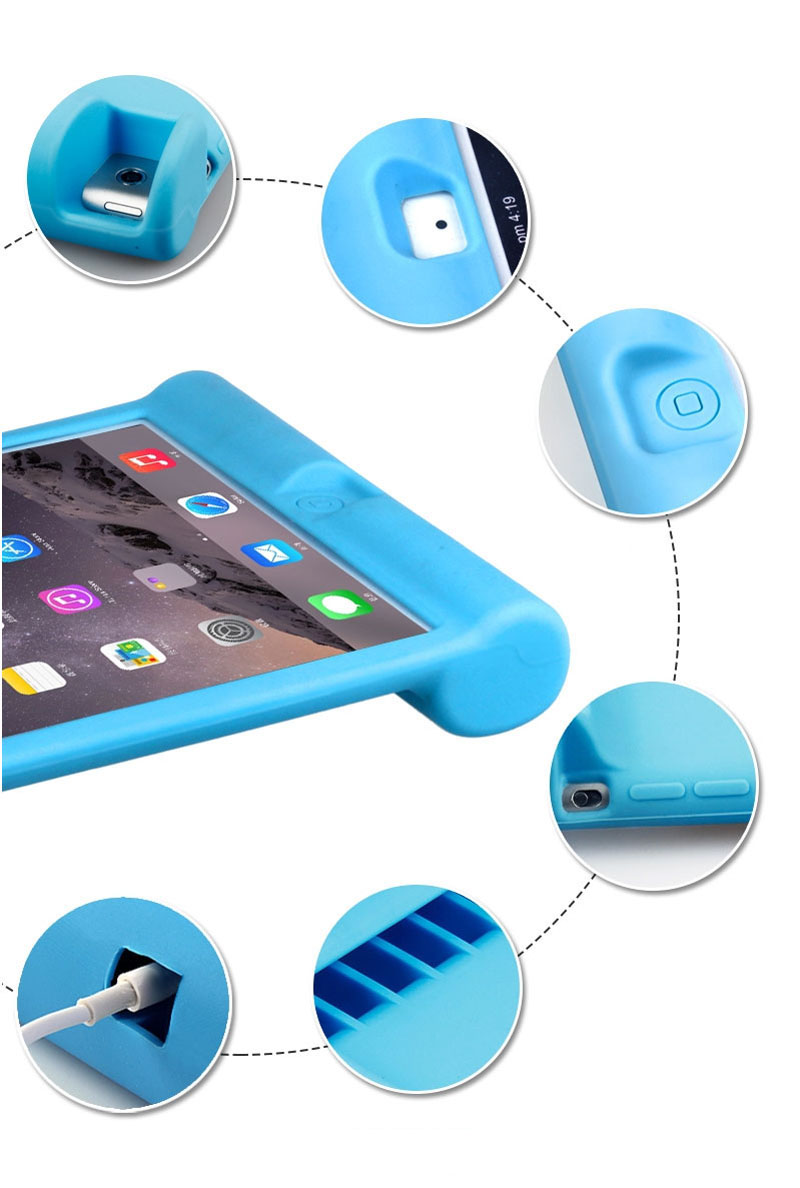 2018 Cool Silicone iPad Air And Air 2 Sleeve Cases For Kids IPFK04_21