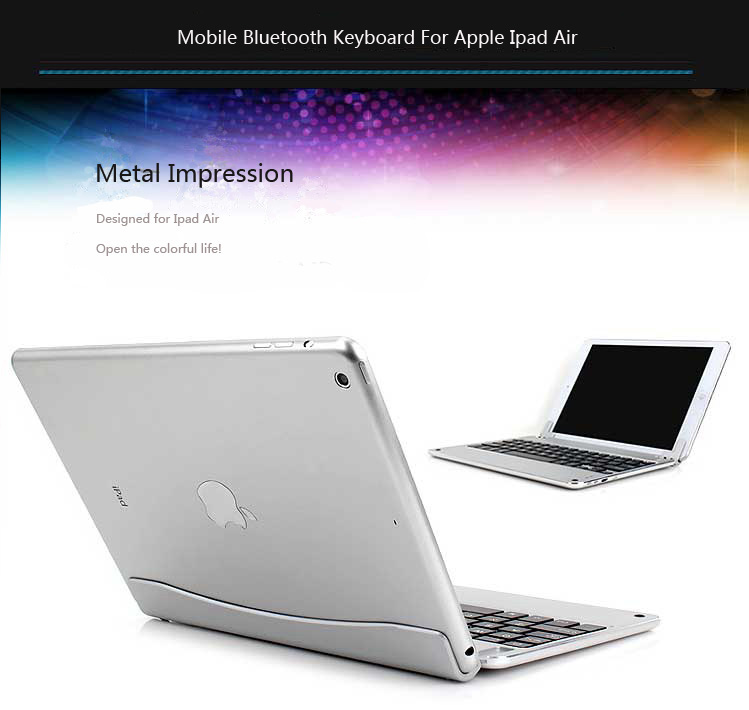 Best Aluminum Silver Keyboard Apple iPad Air Keyboard Cover For You IPK04_3