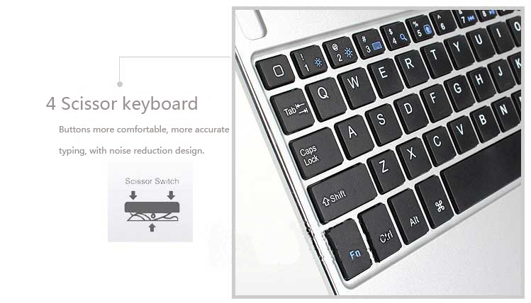 Best Aluminum Silver Keyboard Apple iPad Air Keyboard Cover For You IPK04_8