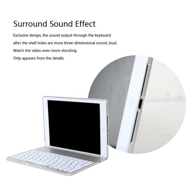 Best Apple Metal iPad Air Keyboard For iPad Air 2 IPK05_11