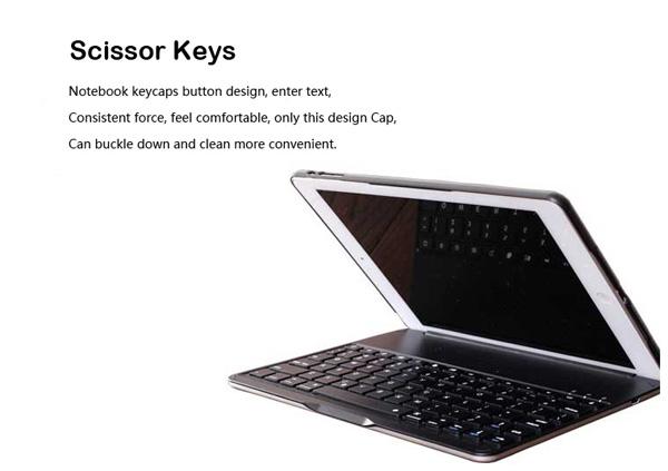 Best Apple Metal iPad Air Keyboard For iPad Air 2 IPK05_14