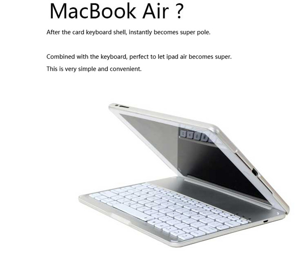Best Apple Metal iPad Air Keyboard For iPad Air 2 IPK05_8