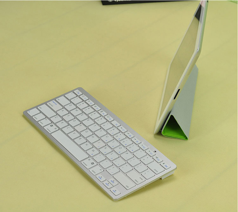 Cheap Bluetooth Silver iPad Air Mini Pro Surface Pro Keyboard IPK07_10
