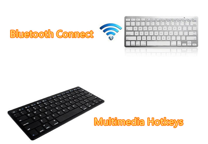 Cheap Bluetooth Silver iPad Air Mini Pro Surface Pro Keyboard IPK07_13