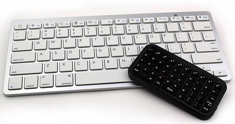 Cheap Bluetooth Silver iPad Air Mini Pro Surface Pro Keyboard IPK07_17