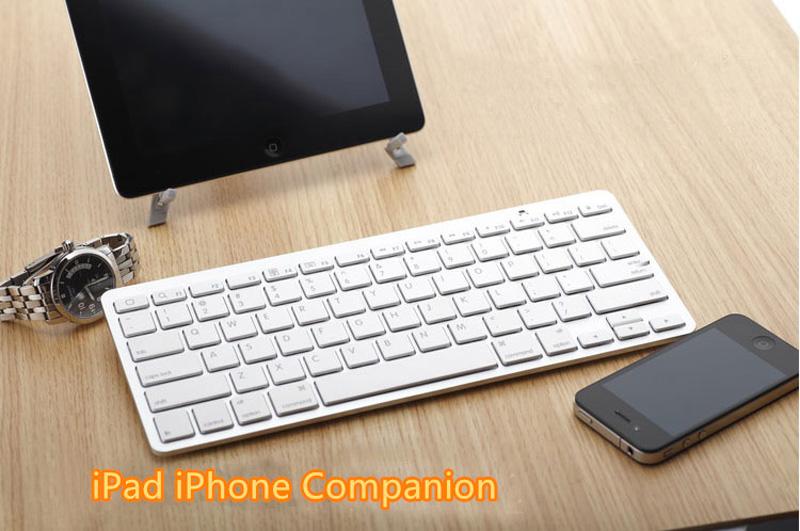 Cheap Bluetooth Silver iPad Air Mini Pro Surface Pro Keyboard IPK07_6