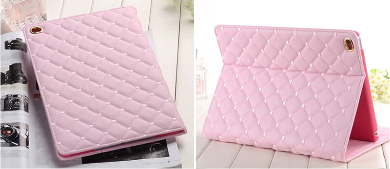 Pink Imitation Leather iPad Mini 3/2/1 Cases And Covers With Nice Bow IPMC307_15