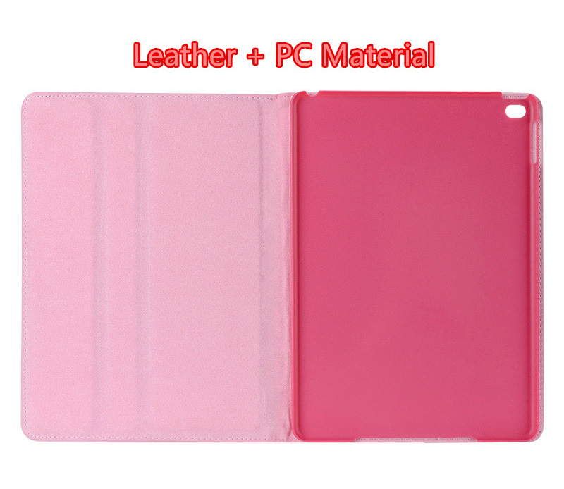 Pink Imitation Leather iPad Mini 3/2/1 Cases And Covers With Nice Bow IPMC307_6