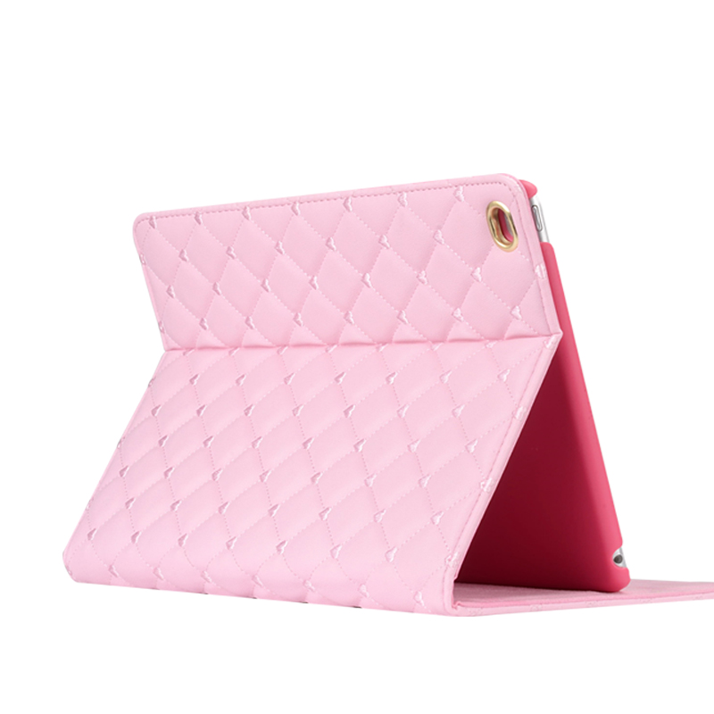 Pink Imitation Leather iPad Mini 3/2/1 Cases And Covers With Nice Bow IPMC307_7