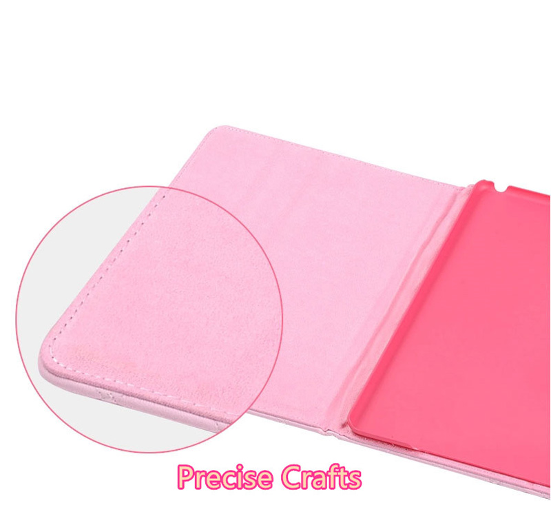 Pink Imitation Leather iPad Mini 3/2/1 Cases And Covers With Nice Bow IPMC307_9
