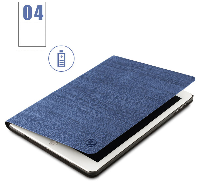 Perfect Dark blue Leather iPad Mini 4 3 2 1 Protective Cases Or Covers IPMC403_12