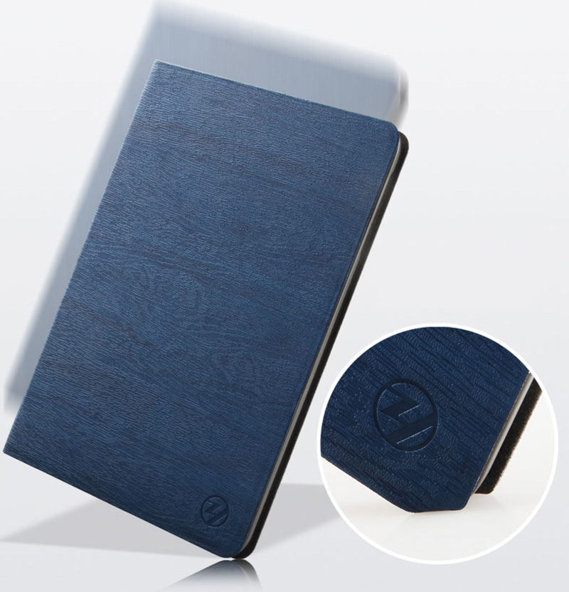 Perfect Dark blue Leather iPad Mini 4 3 2 1 Protective Cases Or Covers IPMC403_15