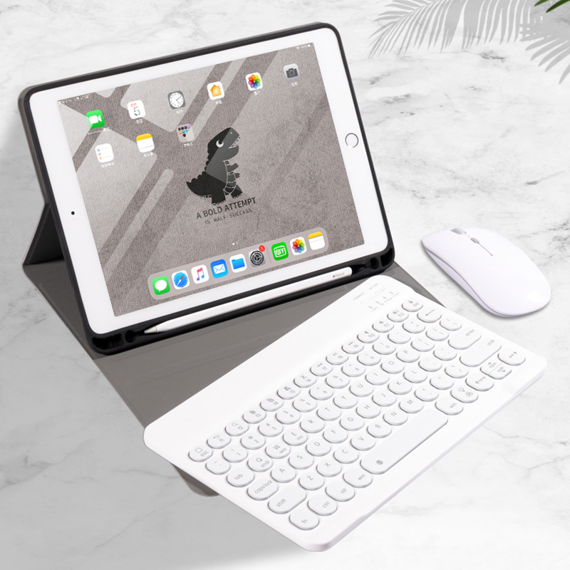 Best Leather New iPad Air 4 3 Pro 11 10.5 Keyboard With Cover IPMK01_7