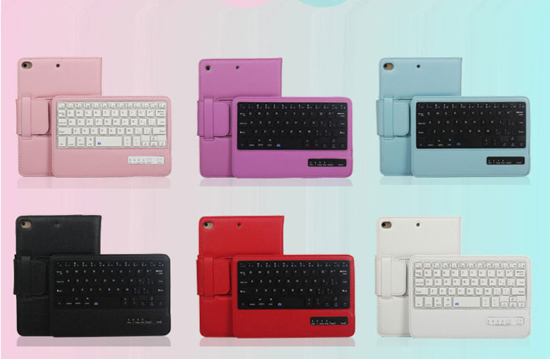Perfect Removable Leather iPad Mini 4 3 Keyboards With Cases Or Covers IPMK402_7