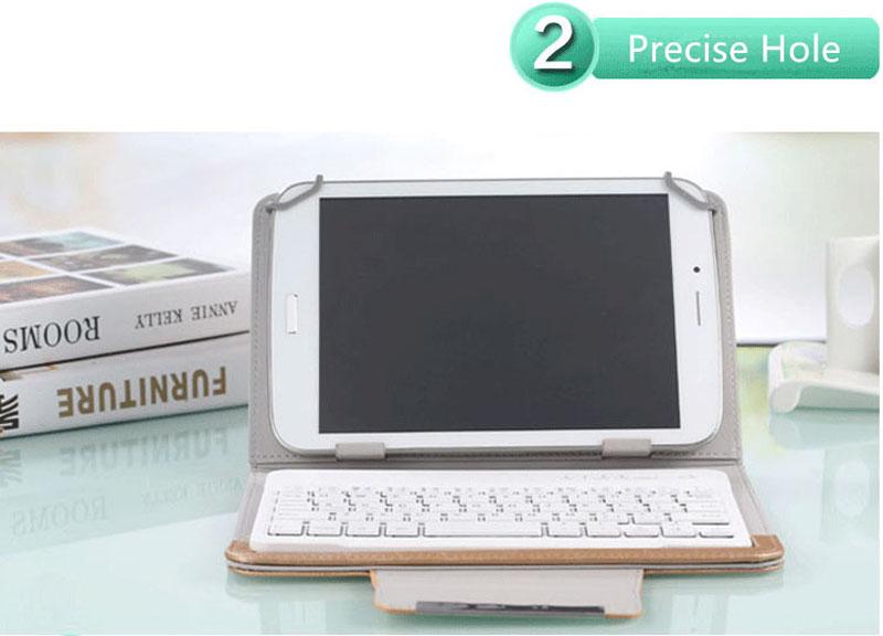 Bluetooth iPad Mini 3 2 keyboard With Leather Case For iPad Mini IPML02_14