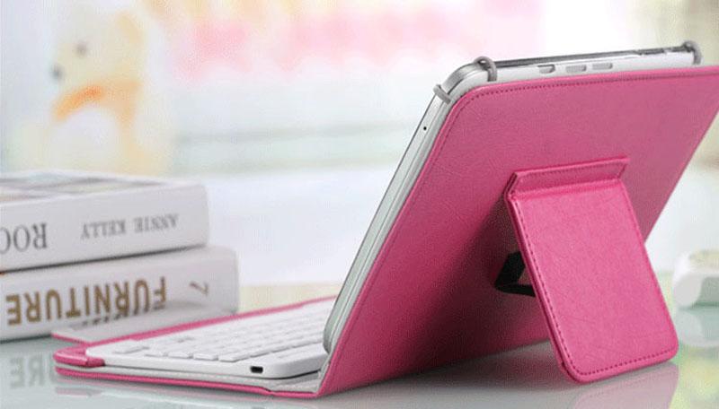 Bluetooth iPad Mini 3 2 keyboard With Leather Case For iPad Mini IPML02_18