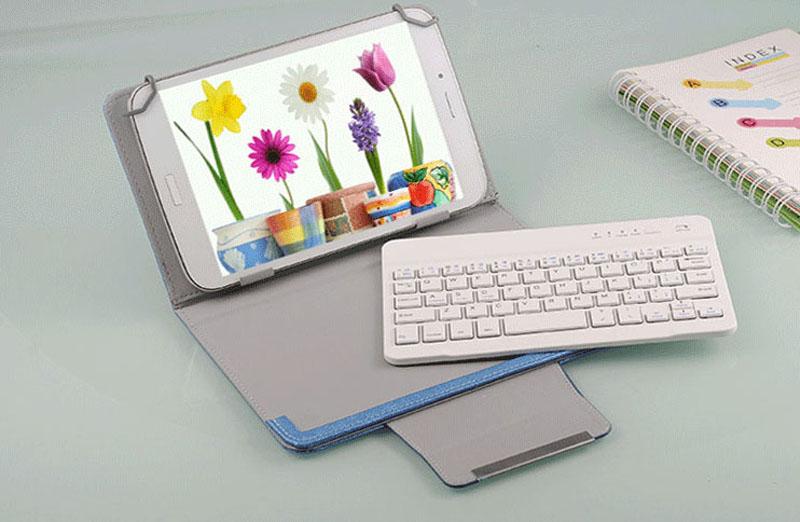 Bluetooth iPad Mini 3 2 keyboard With Leather Case For iPad Mini IPML02_9