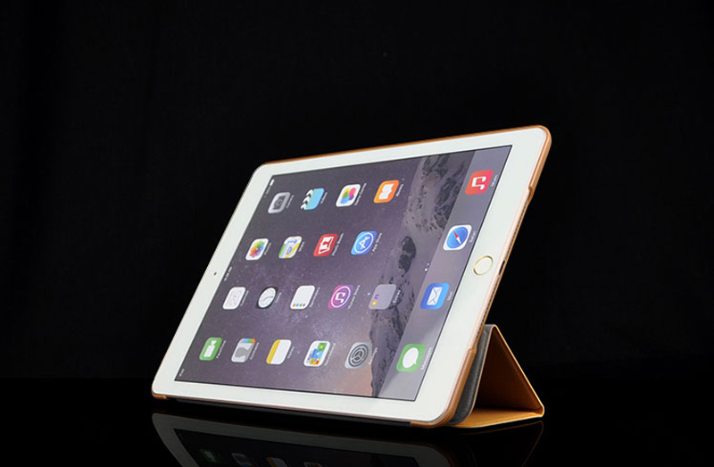 2019 Best Cheap Black Leather Breathable iPad Pro Case Cover IPPC01_14