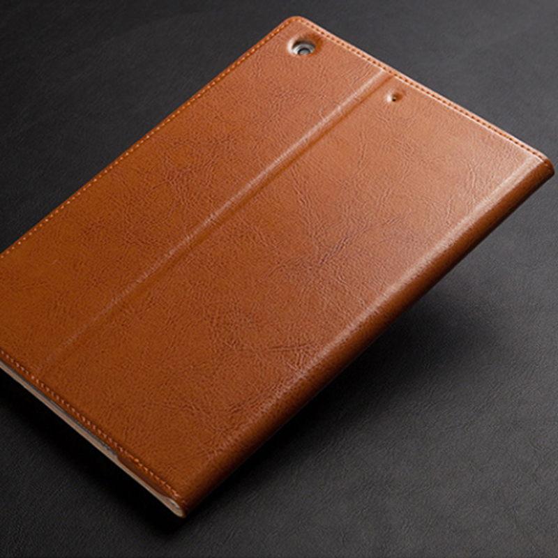 Leather Brown iPad Pro Air 2 Mini 4 Folio Protective Case Cover IPPC03_13