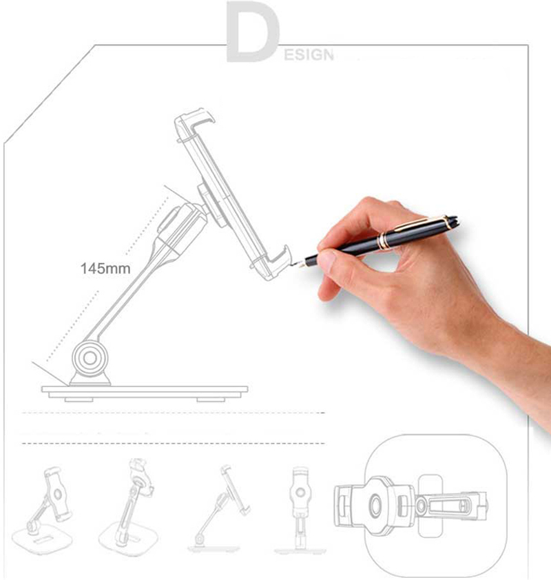 Aluminum Alloy 360 Degree Rotation Stand For Phone iPad Tablet IPS09_9