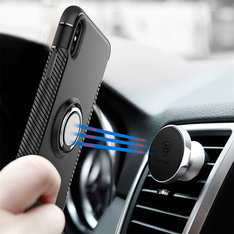 Anti Drop iPhone X 8 7 6 Plus Samsung Note 8 Case With Round Magnetic Buckle IPS101_9