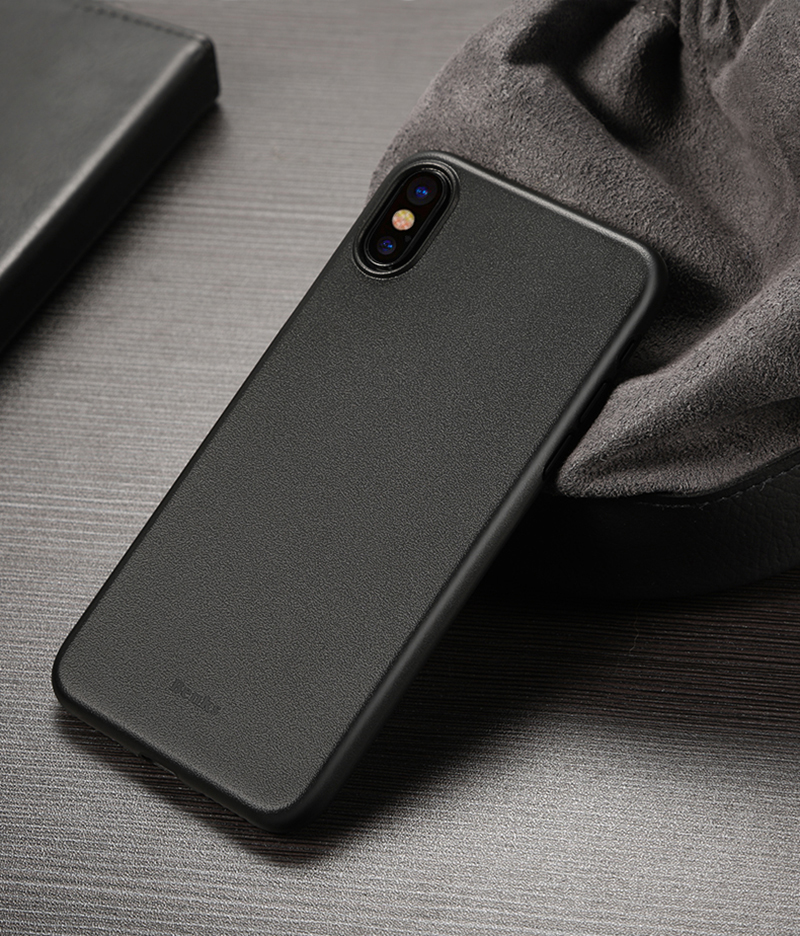 Perfect Black Thin iPhone X XS Protective Case Cover IPS102_10