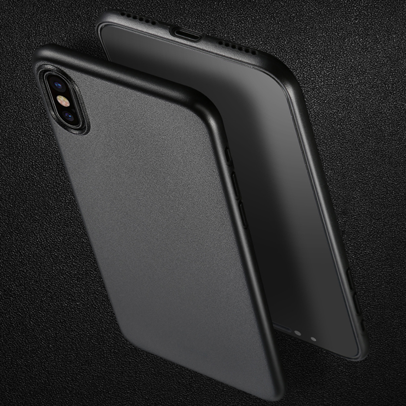 Perfect Black Thin iPhone X XS Protective Case Cover IPS102_9