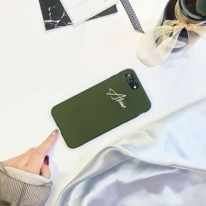 Customize Name Letter Case Cover For iPhone X 8 7 6S Plus IPS105_12