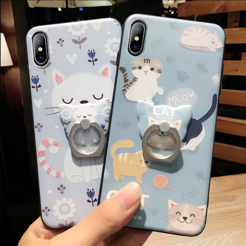 Cartoon Creative Relief Silicone Case For iPhone X IPS108_10