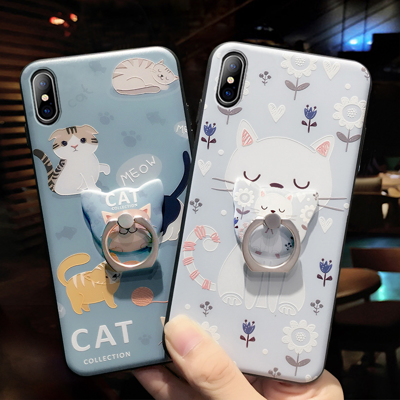 Cartoon Creative Relief Silicone Case For iPhone X IPS108_9