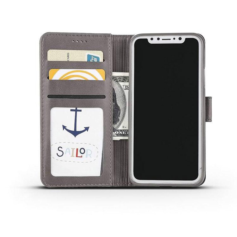 Leather iPhone X Wallet Case Cover With Card Slot IPS110_10