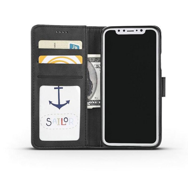 Leather iPhone X Wallet Case Cover With Card Slot IPS110_11