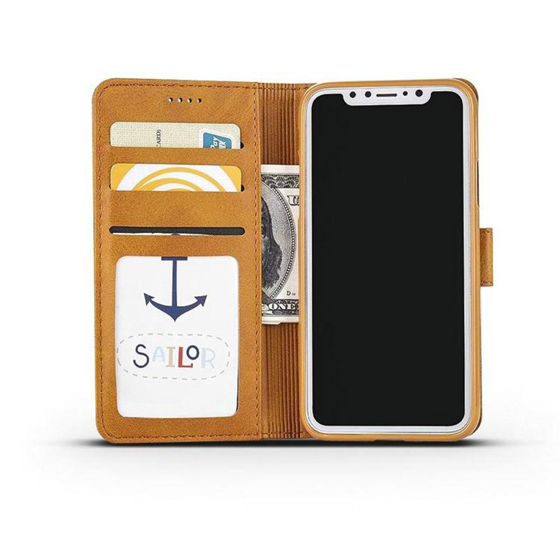 Leather iPhone X Wallet Case Cover With Card Slot IPS110_12