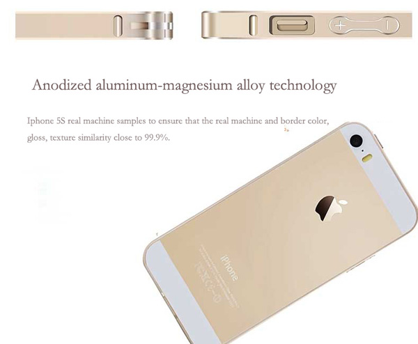 Gold Iphone 5 Bumper Protection IPS502_22