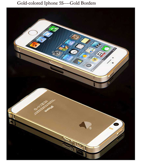 Gold Iphone 5 Bumper Protection IPS502_27