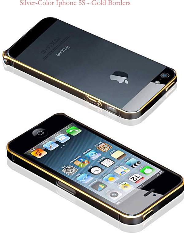 Gold Iphone 5 Bumper Protection IPS502_30