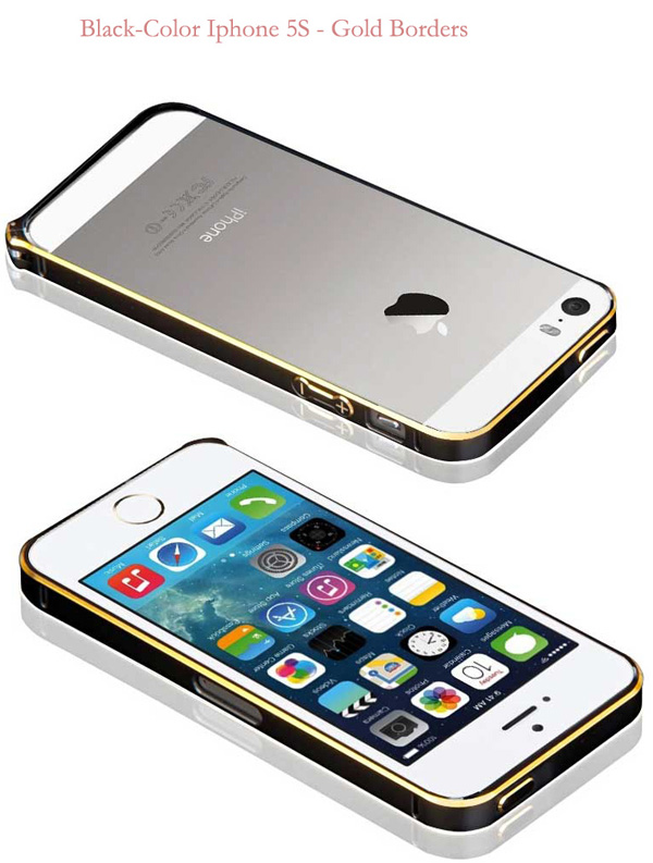 Gold Iphone 5 Bumper Protection IPS502_31