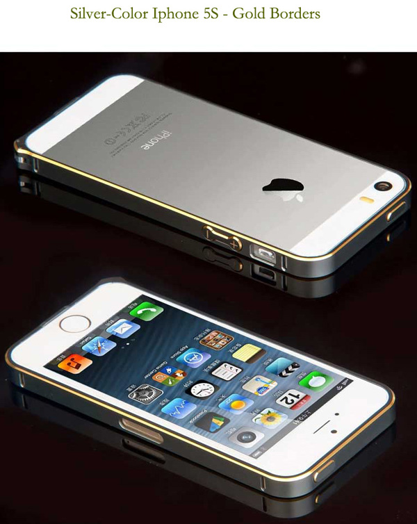 Gold Iphone 5 Bumper Protection IPS502_35