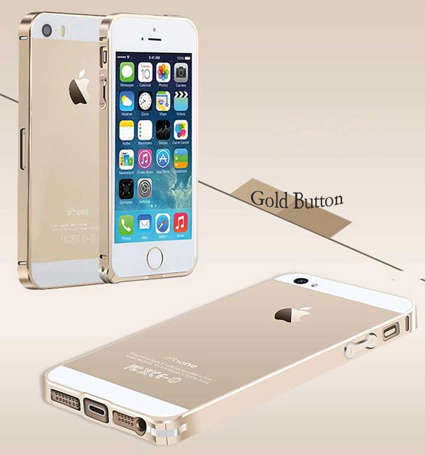Gold Iphone 5 Bumper Protection IPS502_41