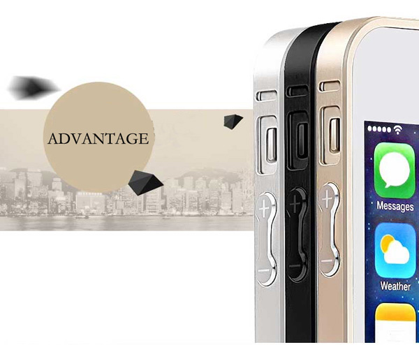 Gold Iphone 5 Bumper Protection IPS502_46